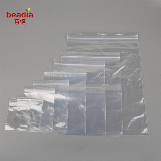 About 100 Bag Plastic Pe Transpa Ziplock Multi Size Self Adhesive Seal