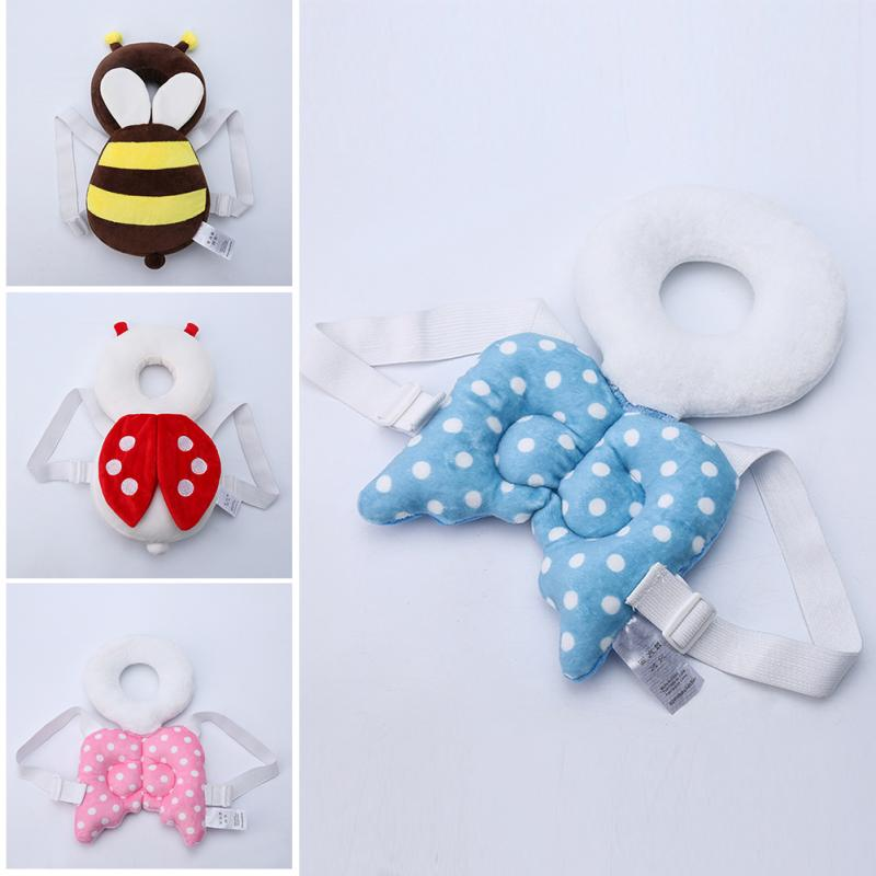 1pc Top Sale Baby Head protection pad Toddler headrest pillow baby neck Cute wings nursing drop resistance cushion baby protect