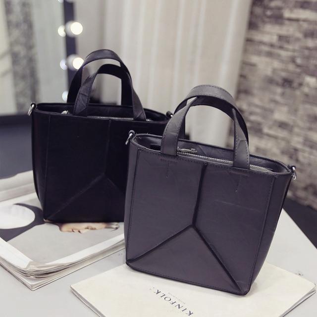 New 2017 European and American Fashion Handbags Female Bag Leather Irregular Bucket Bag Shoulder Ladies Tote Crossbody Bag