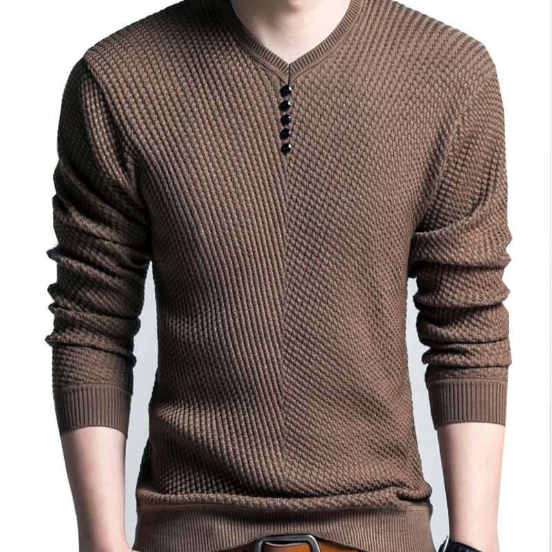 Autumn Cashmere Wool Sweaters Men Casual Plus Size Long Sleeve Striped Knitted Sweater Men V-Neck Fashion Slim Pullover Men 2XL