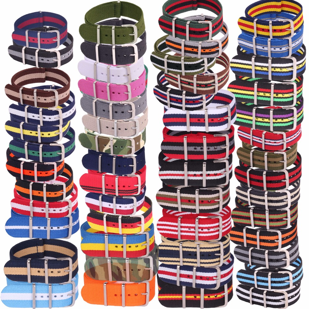 5pcs Wholesale Lot Stripe Retro 22 mm Strong Military Army nato fabric Nylon Watch Woven Straps Bands Buckle 22mm watchbands 1pcs canvas fabric nylon watch straps bands black army green brown gray striped replace wristwatch bracelet width 20mm