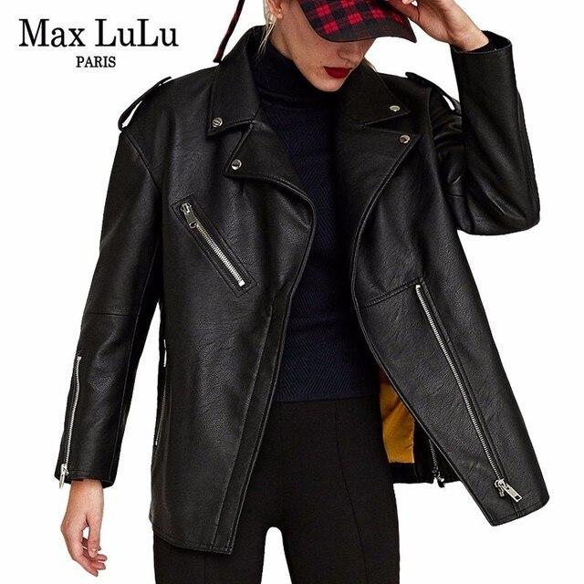 最大ルル高級ヨーロッパブランド女の子モト服レディースフェイクレザージャケット冬暖かい毛皮チャケータmujer女性puコート