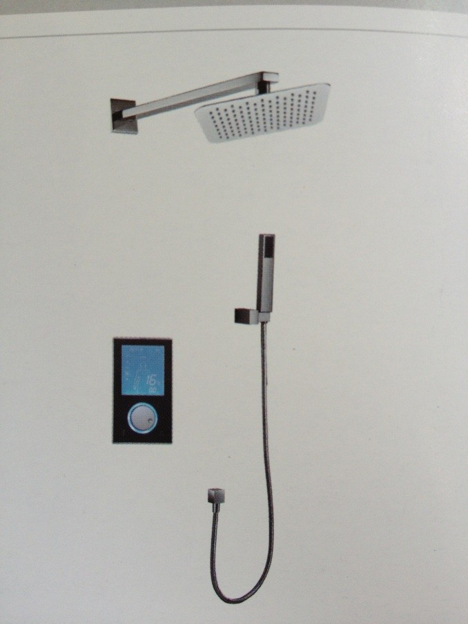 Luxury thermostatic shower set Digital Intelligent wall mounted rain shower faucet -300 head shower