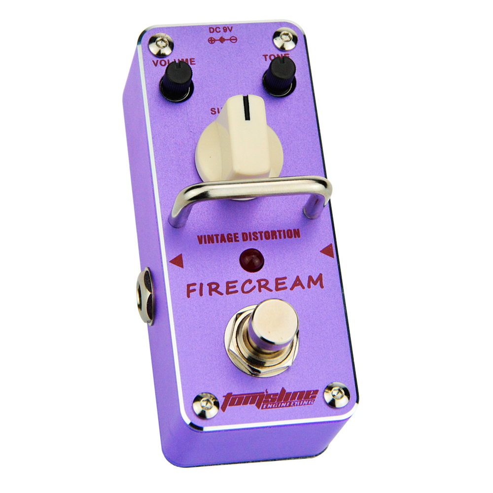 Tomsline Tomsline AFM-3 FIRECREAM guitar distortion Mini Analogue Effect True Bypass AROMA amc 3 manic high gain distortion guitar effect pedal aroma mini analogue pedals purple color true bypass guitar parts