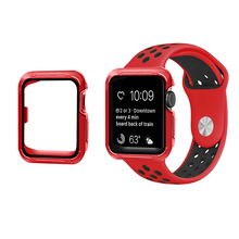 SANYU 10 Colors TPU+PC Watch Case For Apple Watch 42mm 38mm iWatch 3/2/1 Series Protector Case For Apple Nike Watch Band