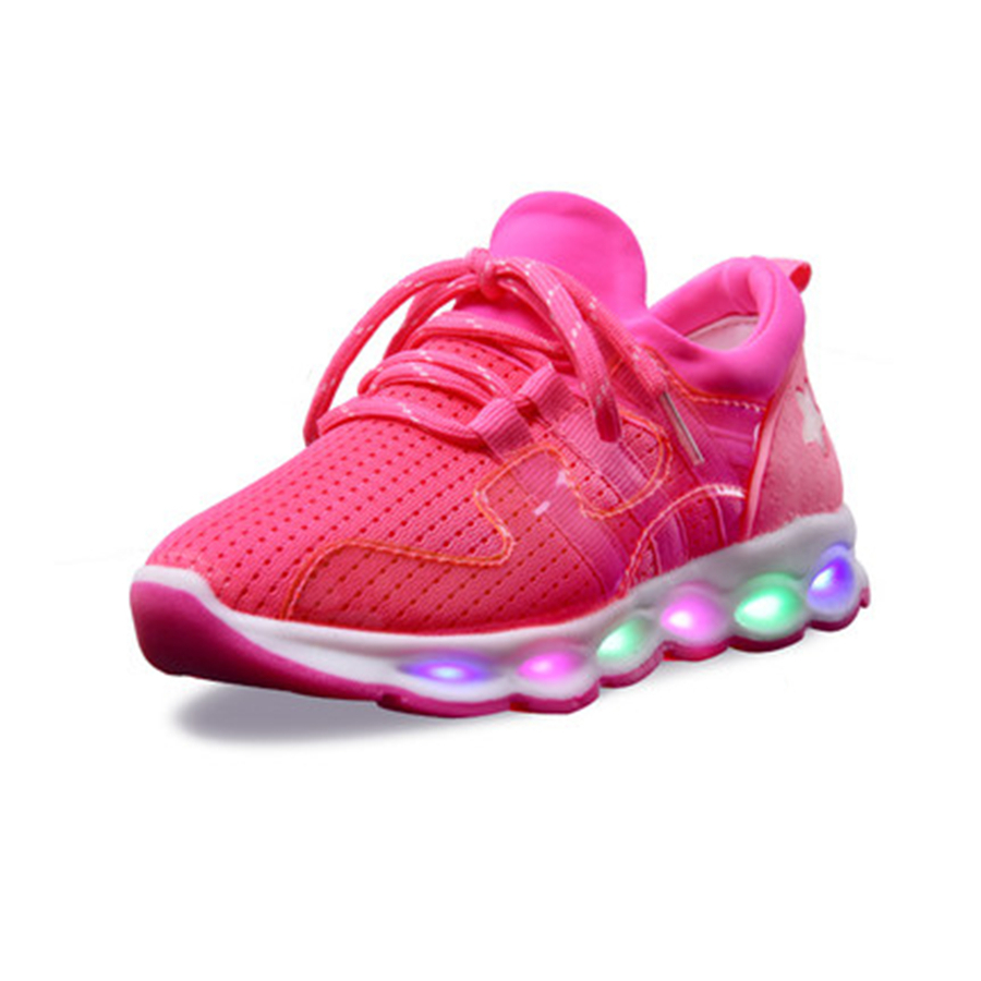 Led Glowing Shoes Kids Led Light Sneakers With Luminous Sole Cute Chaussure Enfant Glowing Sneakers Usb Children 50Z0001 wholesale cheap lights up led luminous casual shoes high glowing with charge simulation sole for women