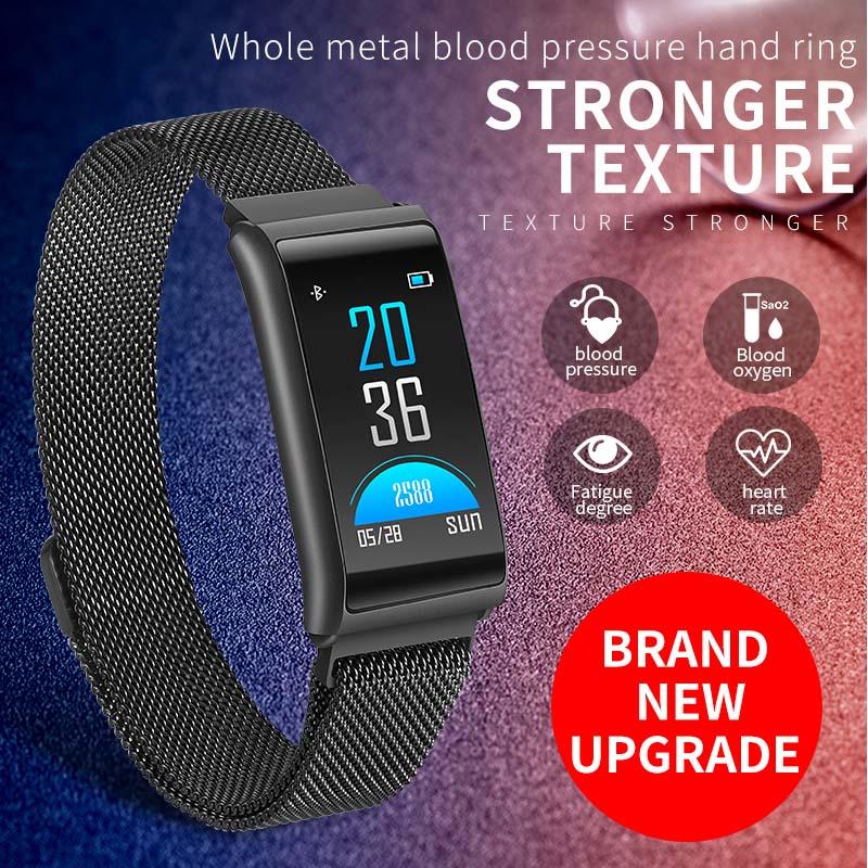 Waterproof Watch Intelligent Digital Pedometer Heart-Rate Women Man Wrist Smart Monitor