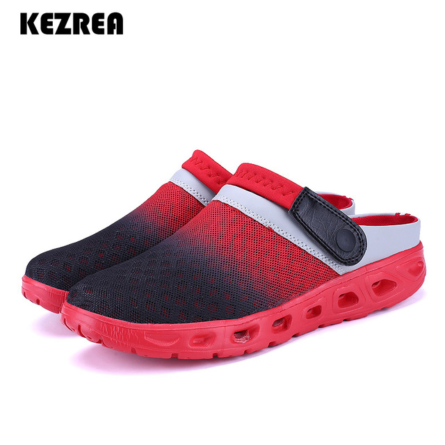 b9dc2b3f360159 Kezrea Summer Men Sandals Breathable Mesh Sandal Summer Beach Mens Shoes  Water Man Slippers Fashion Slides Cheap Shoes