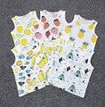 Bebé Chaleco de Los Niños Muchachas de Los Muchachos Del Verano Camisetas Niños fruta impreso Camiseta Del Niño de Ropa de bebé Chaleco Camiseta Ropa
