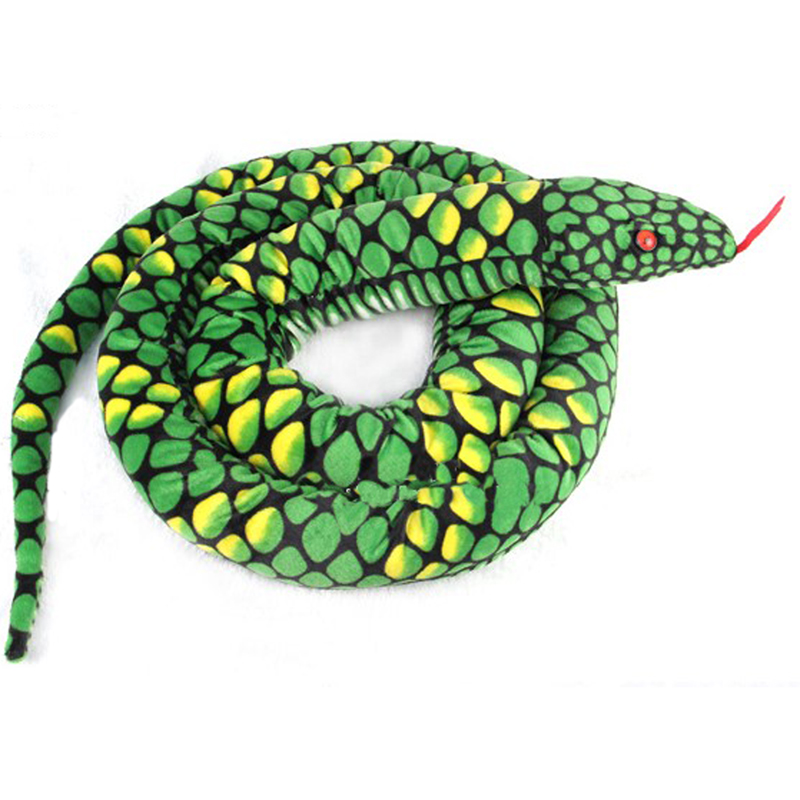 Gloveleya Realistic Stuffed Giant Boa Constrictor Dolls Plush Snake Toys Over 5.5 Feet Long Birthday Gifts for Boys