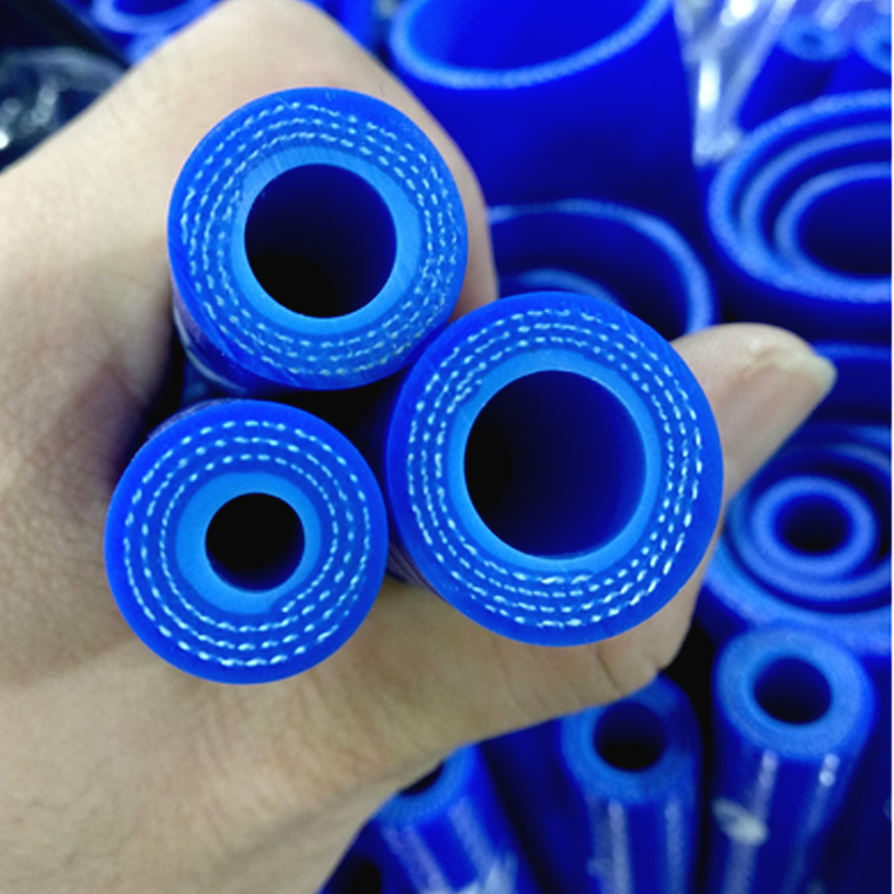 Universal ID:6.5mm 8mm 9mm 10mm 12mm 13mm 14mm Turbo Straight Silicone Coolant Hose 1Meter Length Intercooler Pipe Black/Blue