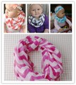 Infant Toddlers Wave Loop Chevron Infinity Scarf Loop Ring Scarves Baby Accessories Free Shipping 15*102cm