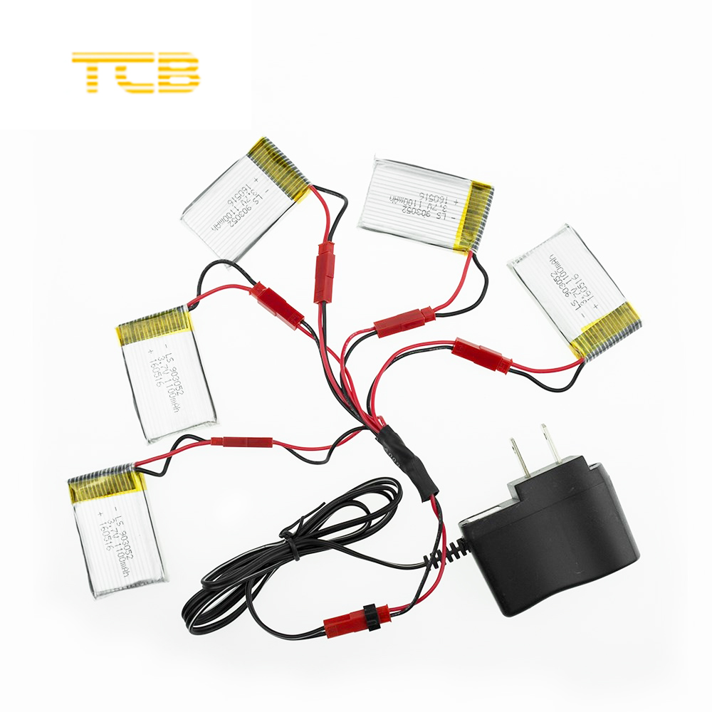 3.7V 1100mAh Li-po battery for JJRC H11D H11C HQ898 Quadcopter Drone rc 5pcs with wall charger and 5 in 1 cable 5pcs jjrc h11d h11c hq898 quadcopter drone rc lipo battery 3 7v 1100mah and charger plug cable