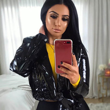 2019 Spring Motorcycle Pu Leather Jacket Female Short Fashion Streetwear Open St