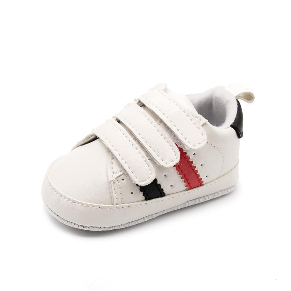 Newborn Moccasins Baby Boy Girl Shoes 3 Hook & Loop Hole Breathable Sneakers Anti-slip Soft Sole Toddlers Prewalkers