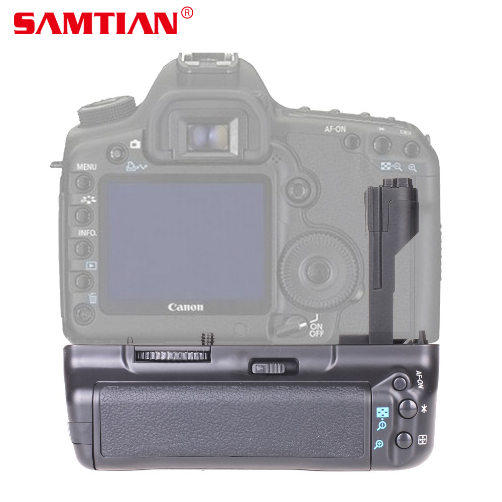 SAMTIAN Vertical Battery Grip Holder for Canon EOS 5D Mark II 5D2 5DII DSLR Camera Work with LP-E6 Battery