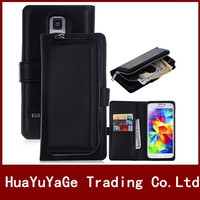 Phone Cases PU Leather Zipper Wallet Lanyard Card Flip Case Separate Back Cover For Samsung Galaxy