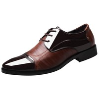 Patent Leather Dress Shoes - Lace Up Leather Lined