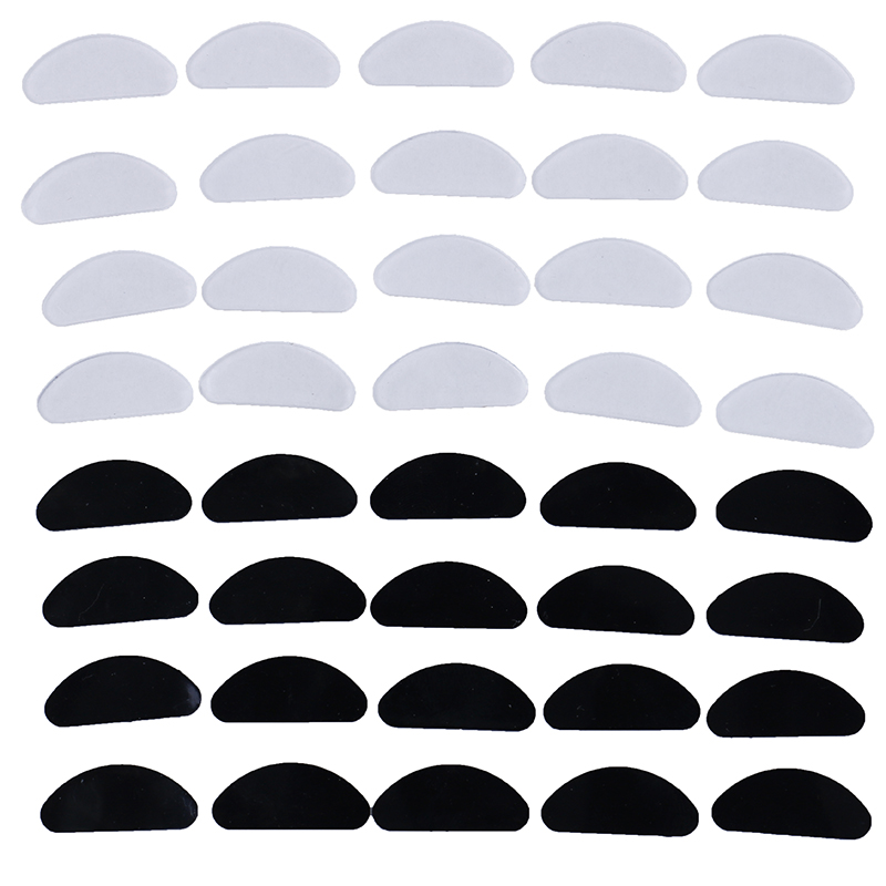 10 Pcs Glasses Nose Pads Adhesive Silicone Nose Pads Non-slip White Thin Nosepads For Glasses Eyeglasses Sunglasses