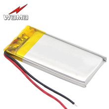 1x WAMA 502040 380mAh Li-Polymer Over-Charging Protected PCB 3.7V Rechargeable Batteries for Bluetooth Speakers Eletronics