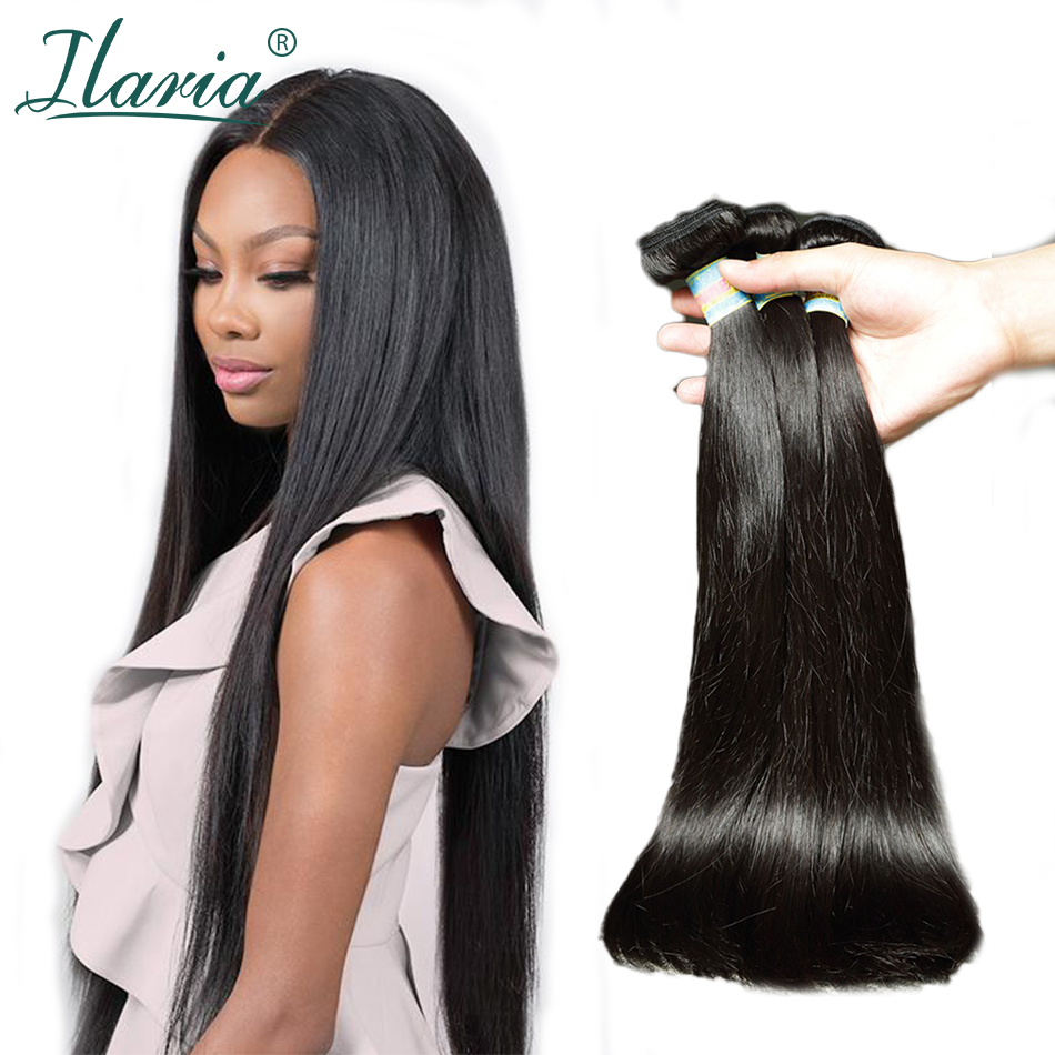 Brazilian Hair Weave Bundles Straight 100% Human Hair Bundles 3Pcs/Lot Natural Color Remy Human Hair Extensions Shipping Free