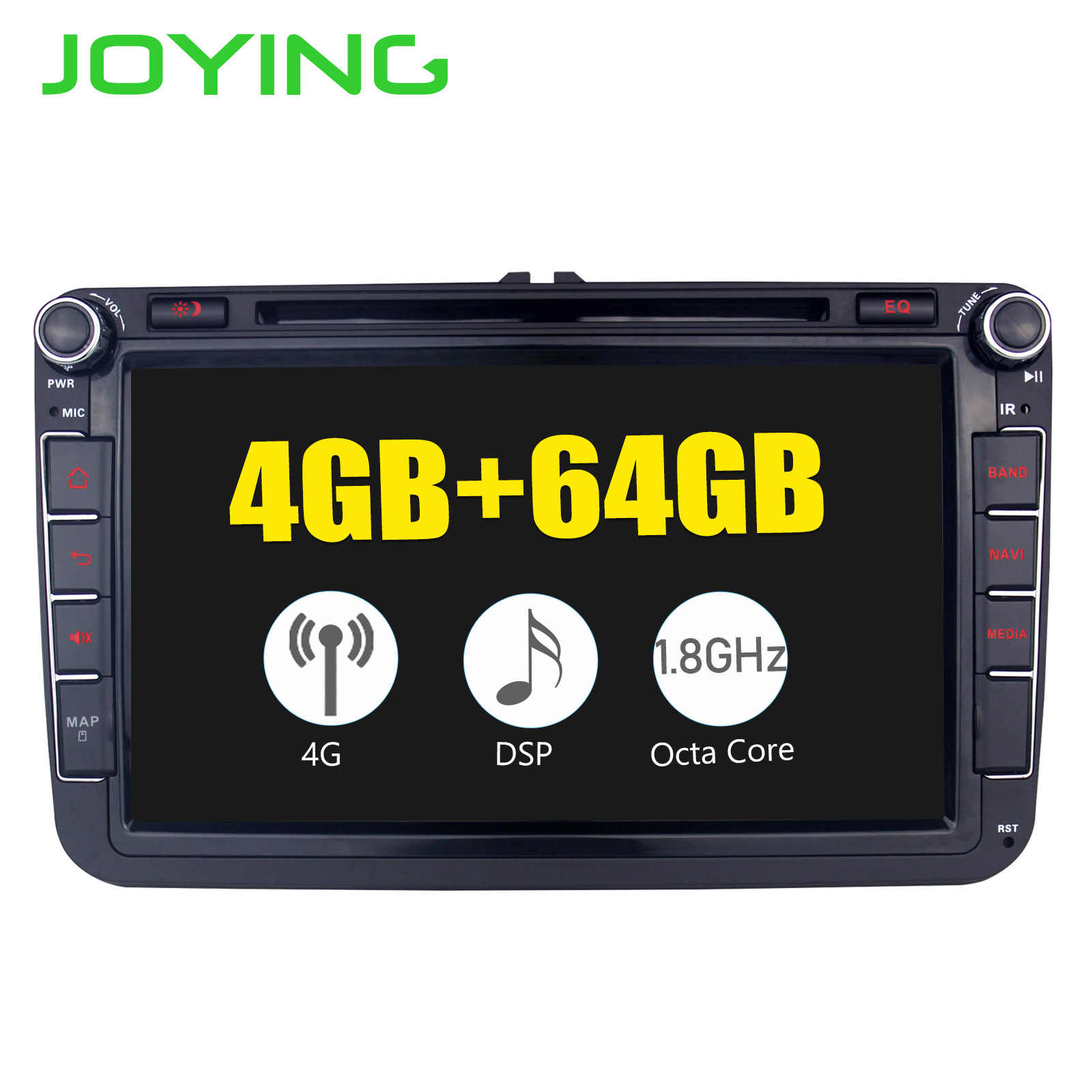 JOYING 4GB Android 8 1 car radio GPS player 8 core head unit with SPDIF for  VW POLO/JETTA/SKODA/Octivia/SuperB Tape recorder