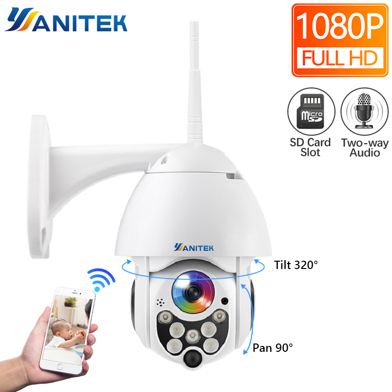 1080P 2MP Wireless PTZ IP Camera Speed Dome WIFI Security Camera Outdoor P2P Cloud ONVIF Two Way Audio CCTV Surveillance1080P 2MP Wireless PTZ IP Camera Speed Dome WIFI Security Camera Outdoor P2P Cloud ONVIF Two Way Audio CCTV Surveillance