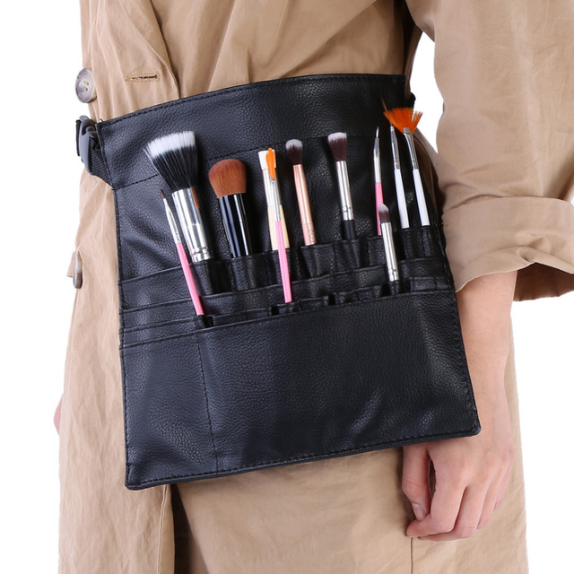 e674bd19cc Professional Makeup Bag Cosmetic Bushes Case Holder PU Waist Belt Pouch  Apron Portable Waist Bag Artists
