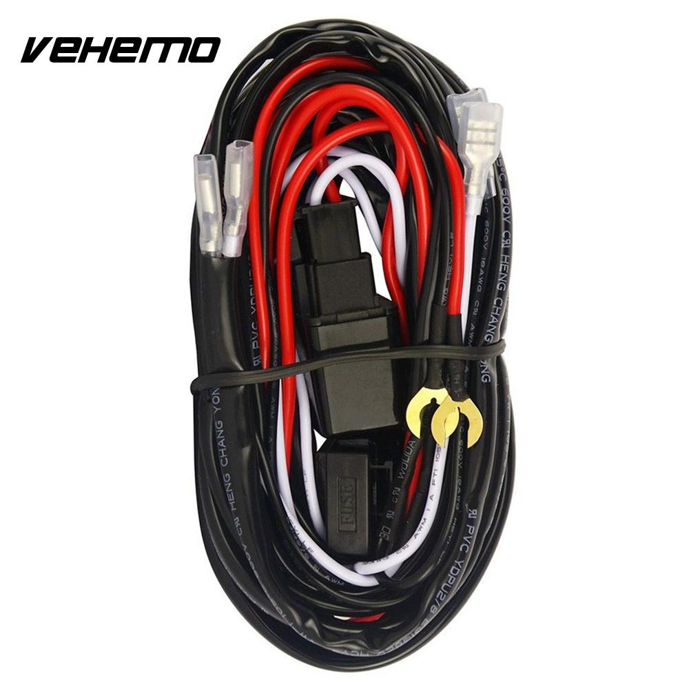 2018 Wiring Harness Kit Universal Line Set Connecting 2 Led Switch Headlight Relay Professional Fuse Car Tuning In Wire From Automobiles