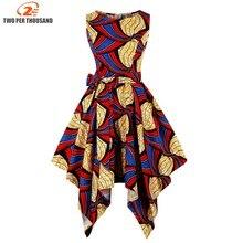 S 4XL زائد حجم فساتين الأفريقي للنساء أفريقيا الملابس غير المتكافئة اللباس الشرق الأوسط Dashiki فساتين بازان الثراء التقليدية