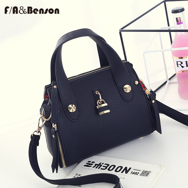 Fabenson 2017 New Latest Fashion Handbag Pu Leather With Shoulder Strap Women Small Casual Bag Bags In Top Handle From Luggage