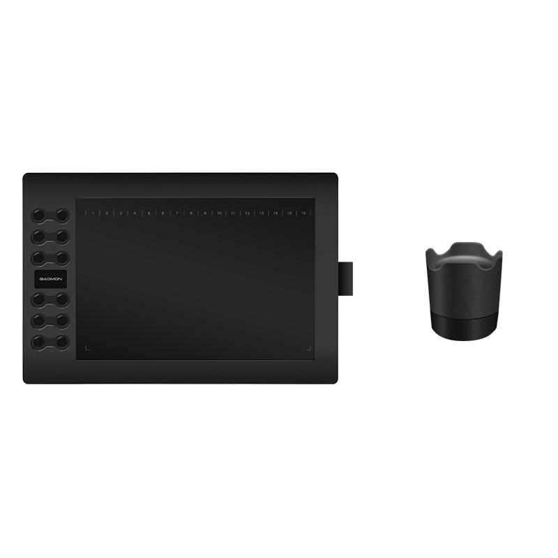 GAOMON M106K 12 Экспресс кілттері Pen Tablet Сандық графикалық панелі Pen Ұстағышымен сызу үшін
