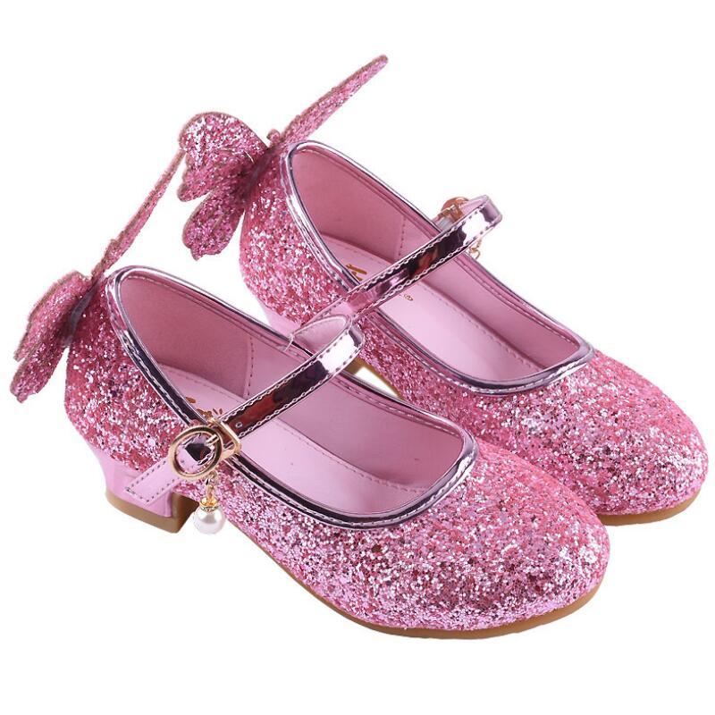 Skhek Princess Girls Sandals Kids Shoes For Girls Dress
