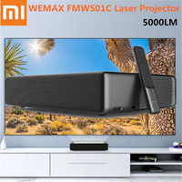 Xiaomi WEMAX One Laser Projector ALPD HD 4K Proyector 1920 x 1080P 5000 Lumens Voice Control Android 6.0 150 Inch Home Theater