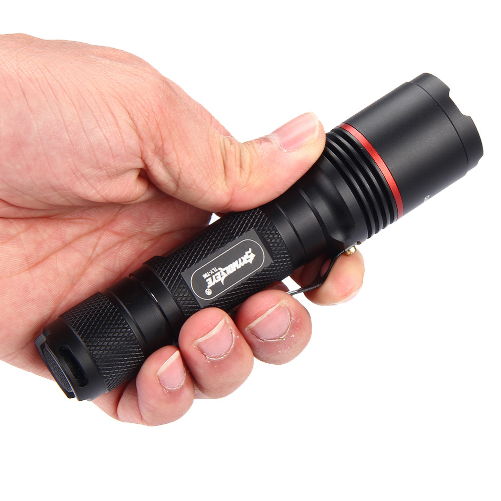 Powerful LED Flashlight 18650 XPL2+T6 High Power Waterproof Zoomable Mini Light Torch Lamp Penlight Use 18650 Rechargeable 15t6 led super high power flashlight t6 flashlights waterproof rechargeable torch camp lamp light hunting use 4 18650 battery