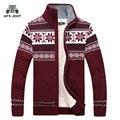 Frete grátis AFS JEEP Sweter Hombre 2016 Moda Inverno Lã Cardigan Masculino dos homens Casuais Grossa Camisola Quente Dos Homens 128