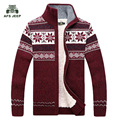 free shipping AFS JEEP Sweter Hombre 2016 Fashion Winter  Wool Cardigan Masculino Men's Casual Thick Warm Sweater Men 128