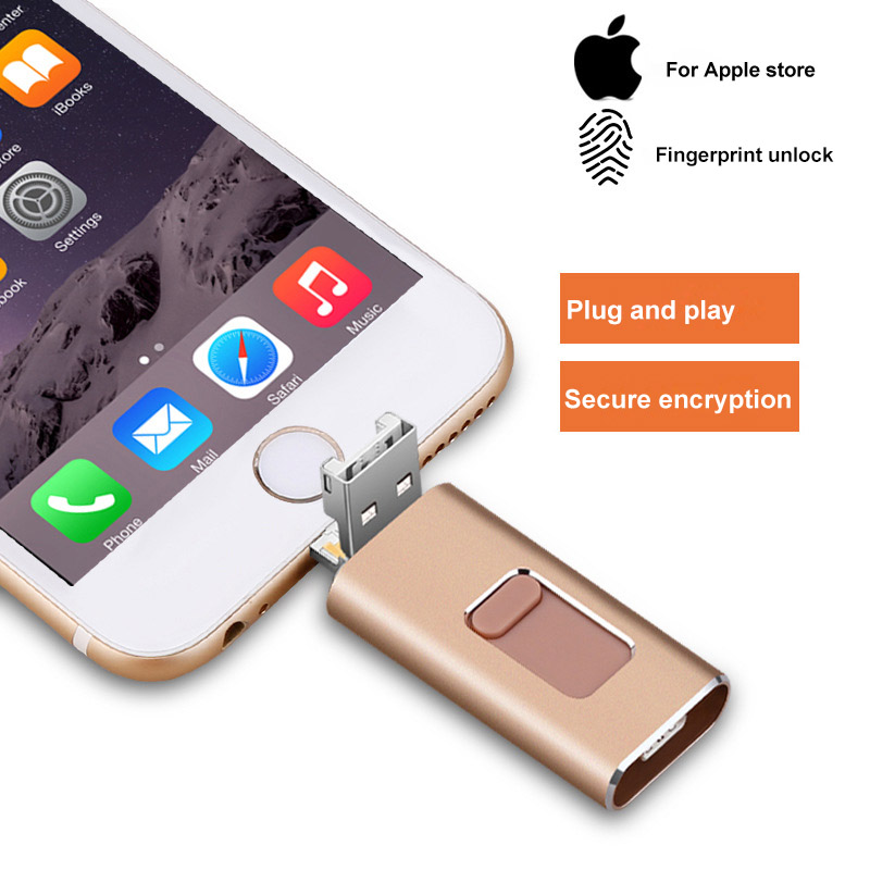 4 In 1 Multi-function Type C USB Flash Drive 256GB Mobile Phone OTG USB Pendrive 64GB 128GB Metal Pen Drive 32G Dropshipping