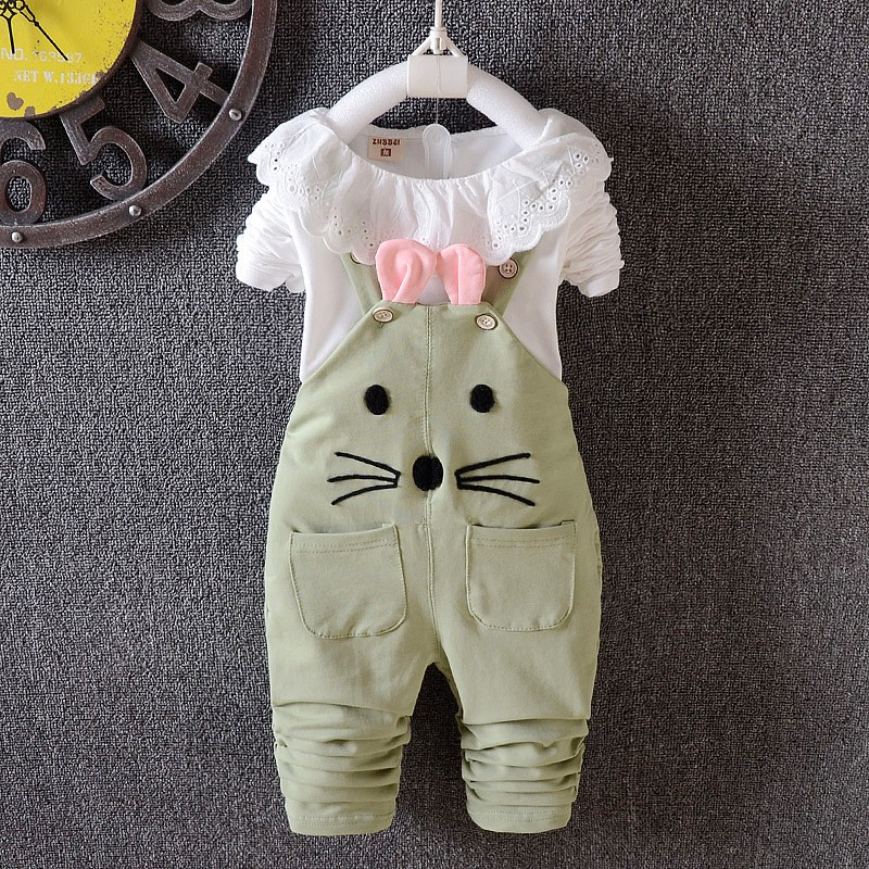 2019 New Spring child ladies clothes units trend cotton lengthy sleeve T-shirt +pant 2pcs overalls units ladies clothes units, clothes units, child woman clothes set,Low-cost ladies clothes units,Excessive High...