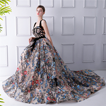 LAIPUTER 2018 Hoa Printed Maxi Dress Nữ In Flowers A Line Dây Đeo Sexy Robe De Soiree Longue 2018 Prom Dress Dài