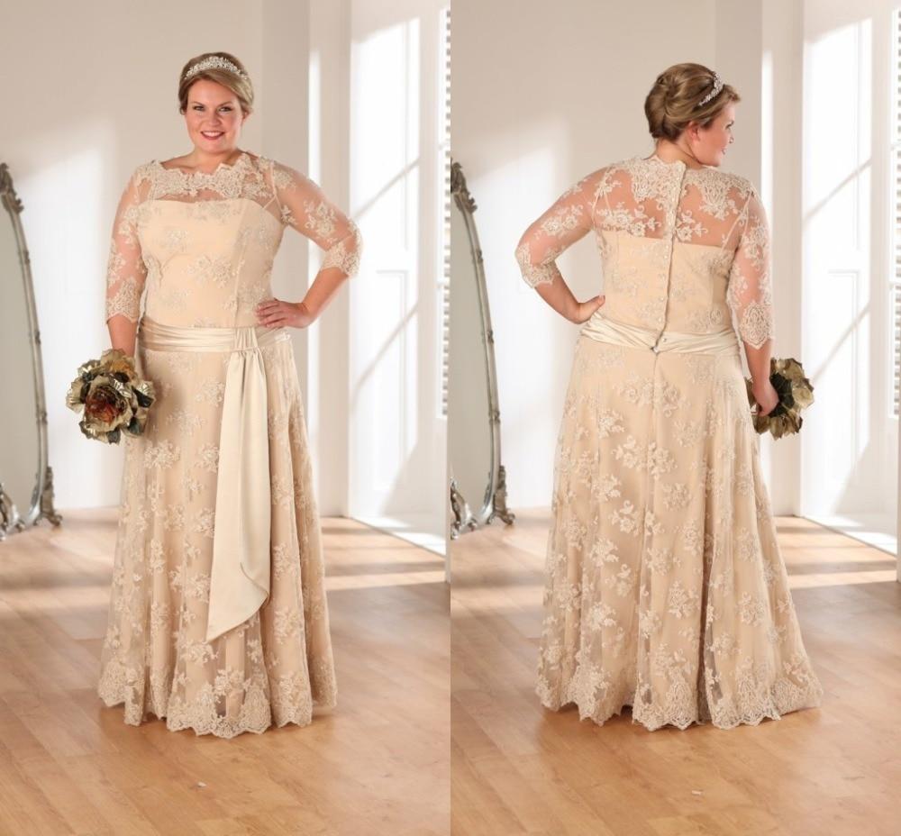 Plus Size Wedding Dresses Champagne Color – fashion dresses