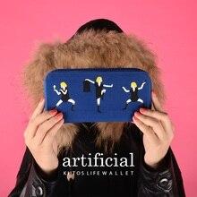 Kiitos  New product  artificial series canvas long purse   fresh handbag  six style