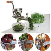 Wheatgrass manual de aço inoxidável espremedor mão extrator suco vegetal aloe vera repolho aipo pinho agulhas frutas espremedor