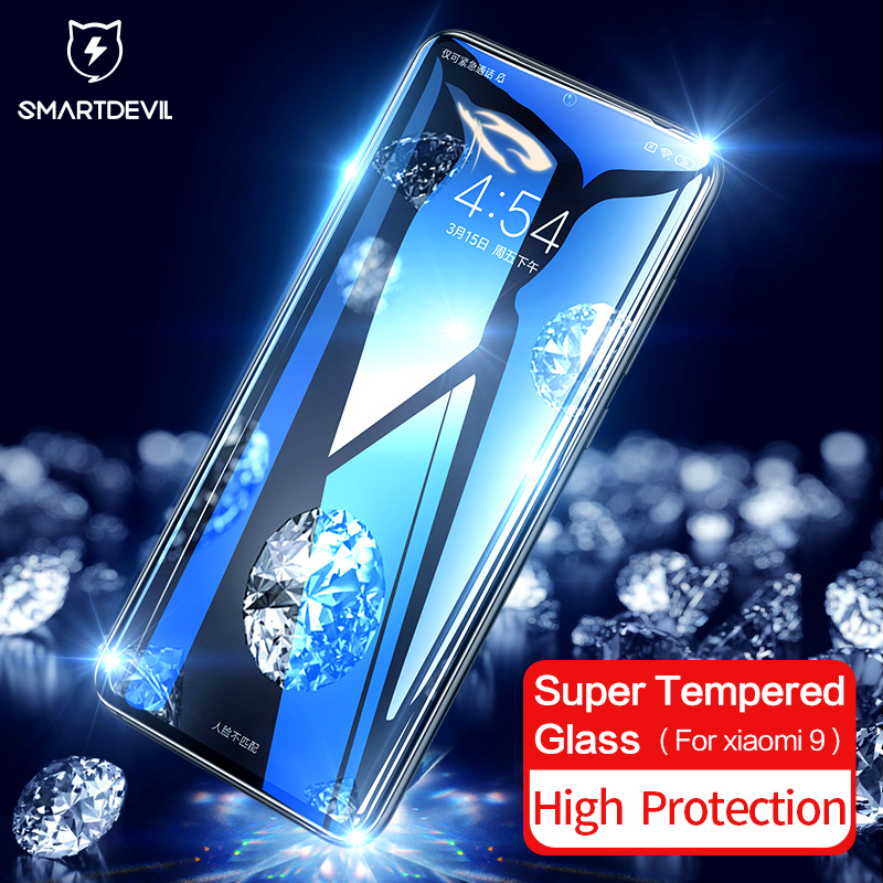 SmartDevil diamond tempered film Curved Film For Xiaomi Mi 9 Screen Protector 3D HD Explore Full Cover Tempered Glass