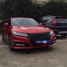 Fits For Honda Accord Spirior 2016 2017 Black Carbon Fiber Radiator Grille Painted Parts
