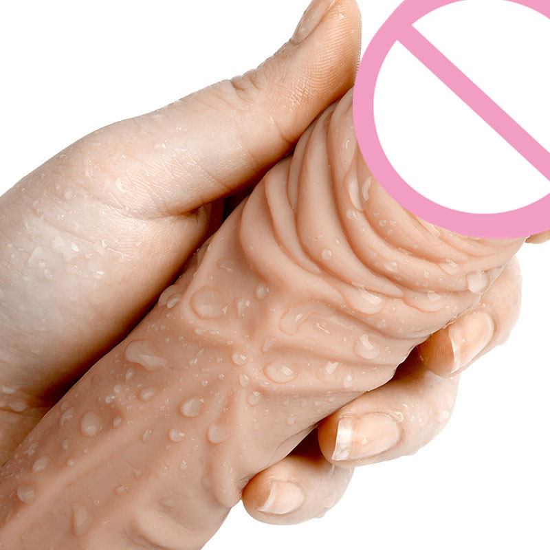 Realistic Silicone Big Penis Sleeve Cock Ring Penis Extender Condom For Male Penis Enlargement Extension Adult Sex Toys For Men
