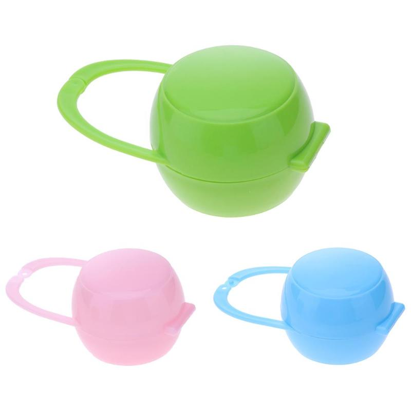 1Pc Soild Portable Cute Baby Infant Kids Appease Pacifier Nipple Container Cradle Case Holder Travel Storage Box