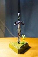Link Zelda Legend of Zelda Figure Breath of The Wild Master Sword Yahaha Weapon 26CM Model Action Figures Pvc Rinquedo