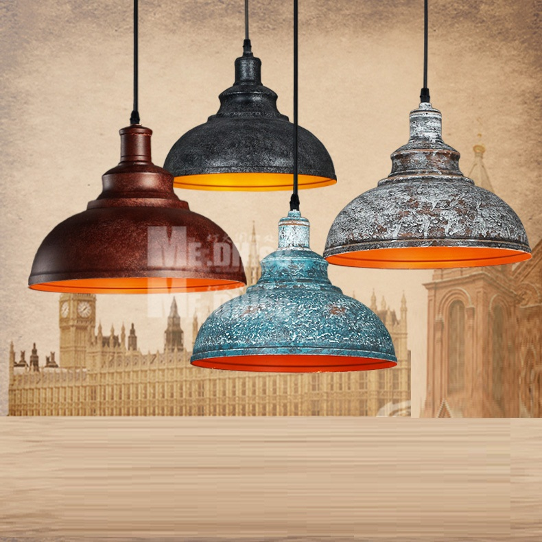 LukLoy Pendant Light Lamp Shade, Retro Nordic Metal Home Industrial Lighting for Kitchen Island Dining Room Decoration
