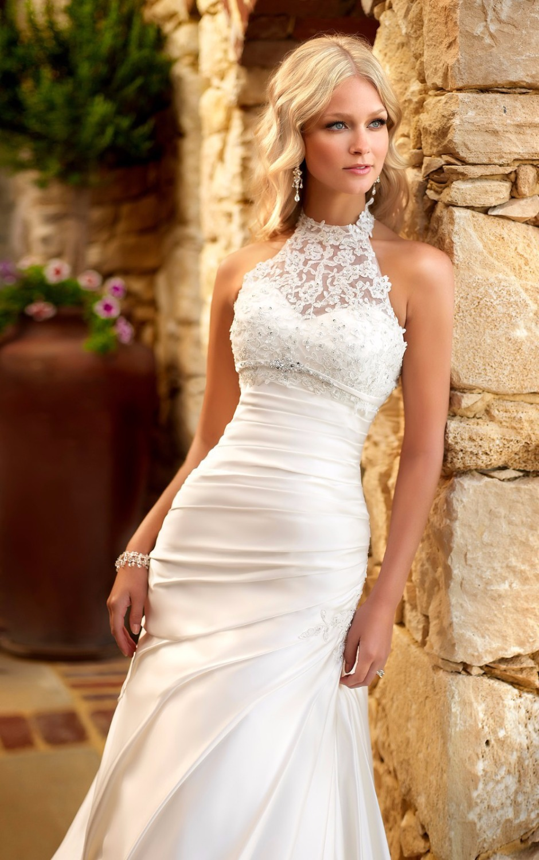 fa60574978c Halter Neck Mermaid Wedding Dress